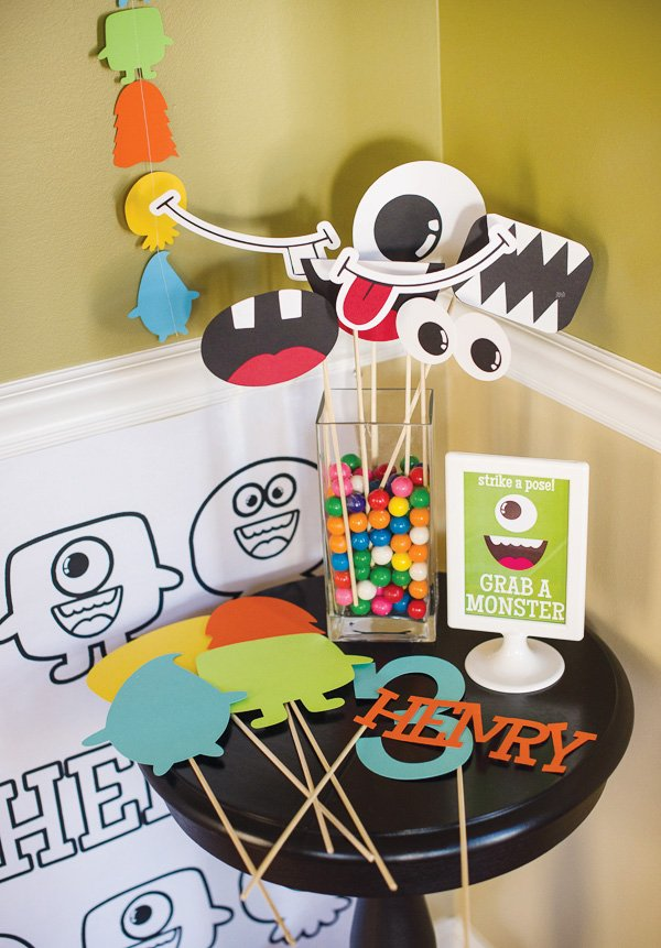 monster photo booth props