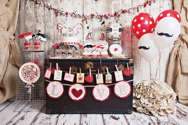 mustache valentine's party