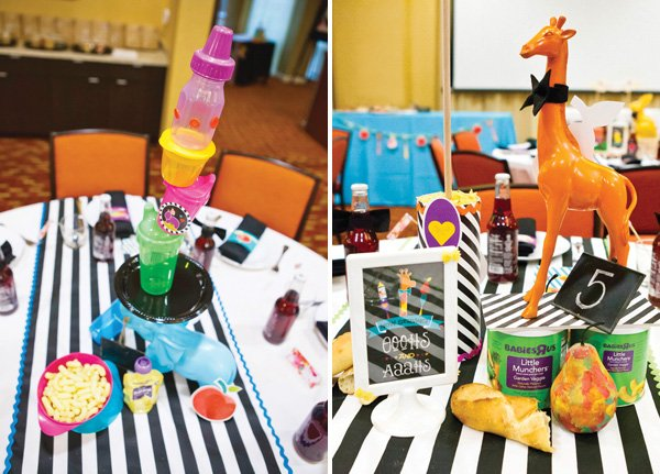 operation shower baby bistro centerpieces