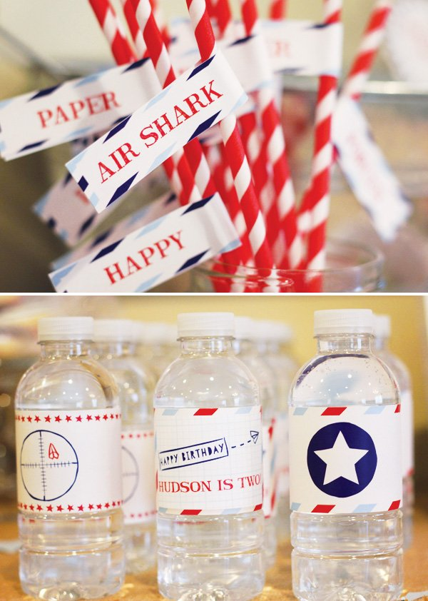 paper airplane party flags