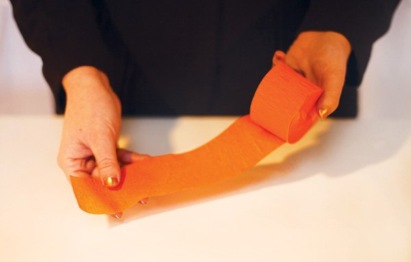 paper carrot diy step 1