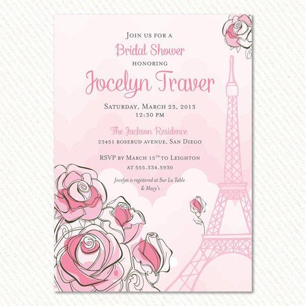 Paris Bridal Shower Invitation - Hostess INK