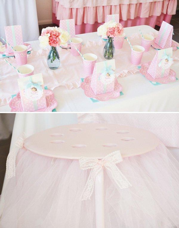 pink ballerina kids table