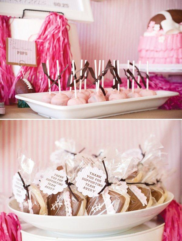 pink football desserts