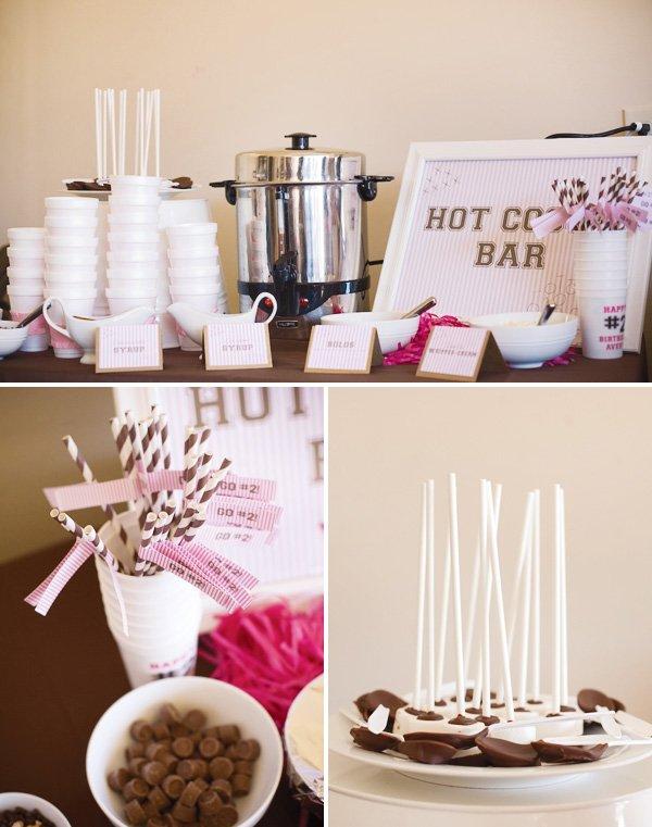 pink hot cocoa bar