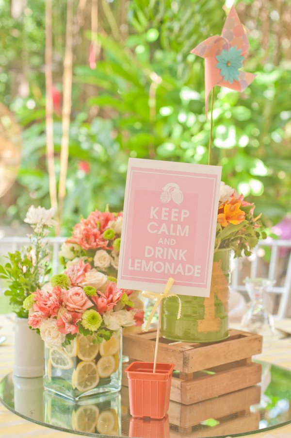 Pink lemonade birthday party hostess with the mostess
