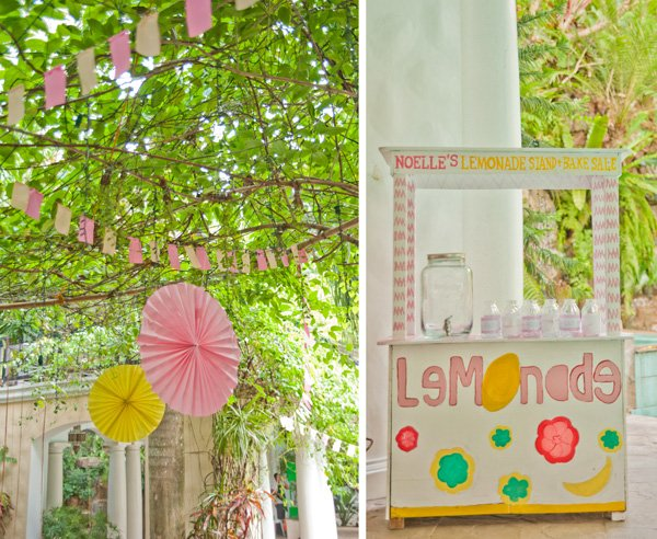 lemonade stand backyard setup