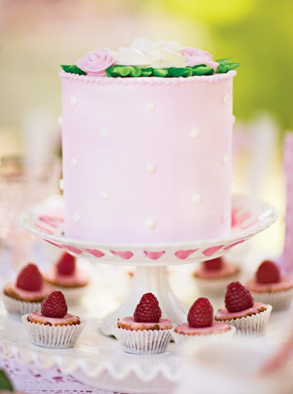 pink tea party cake