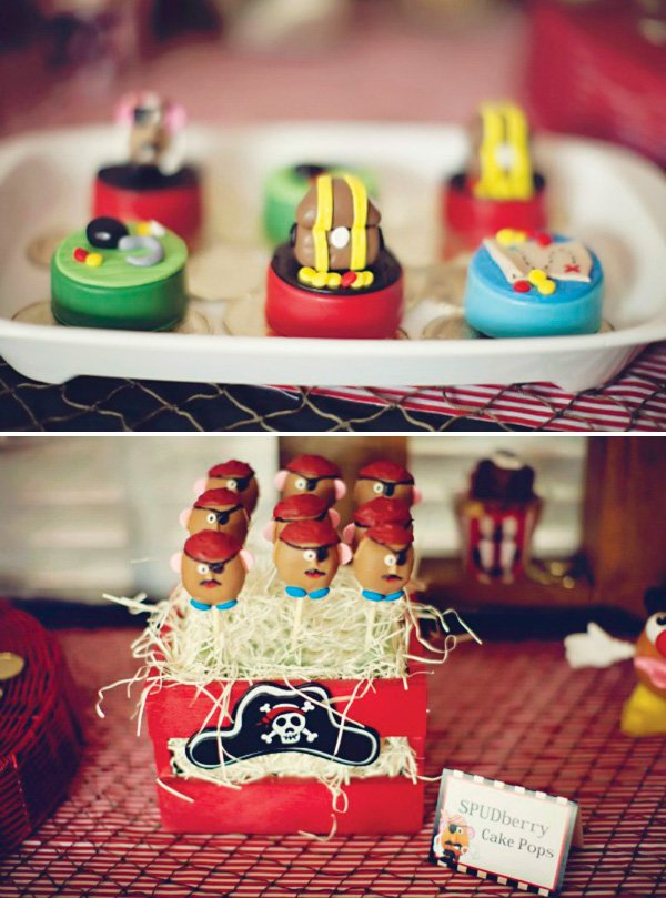 potato head pirate cake pops