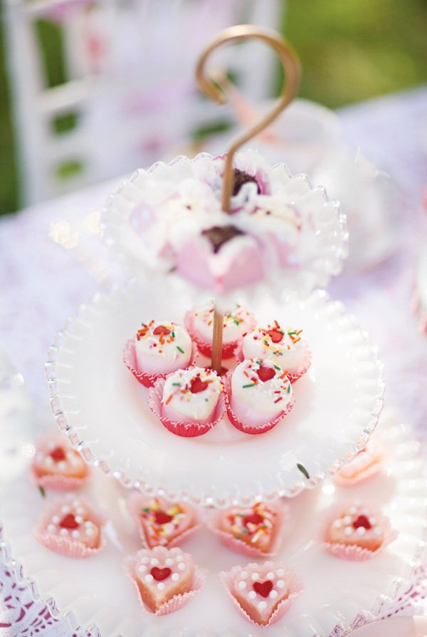 pretty heart candies