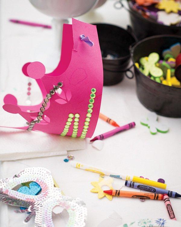 princess crown party crafts