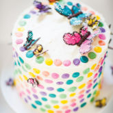 rainbow butterfly cake diy