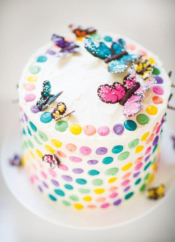 rainbow butterfly cake diy
