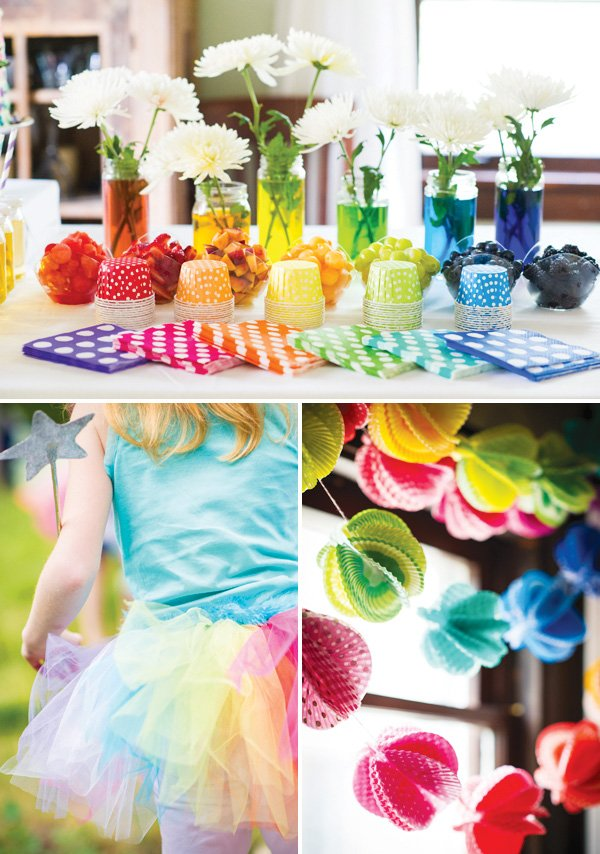 rainbow butterfly party