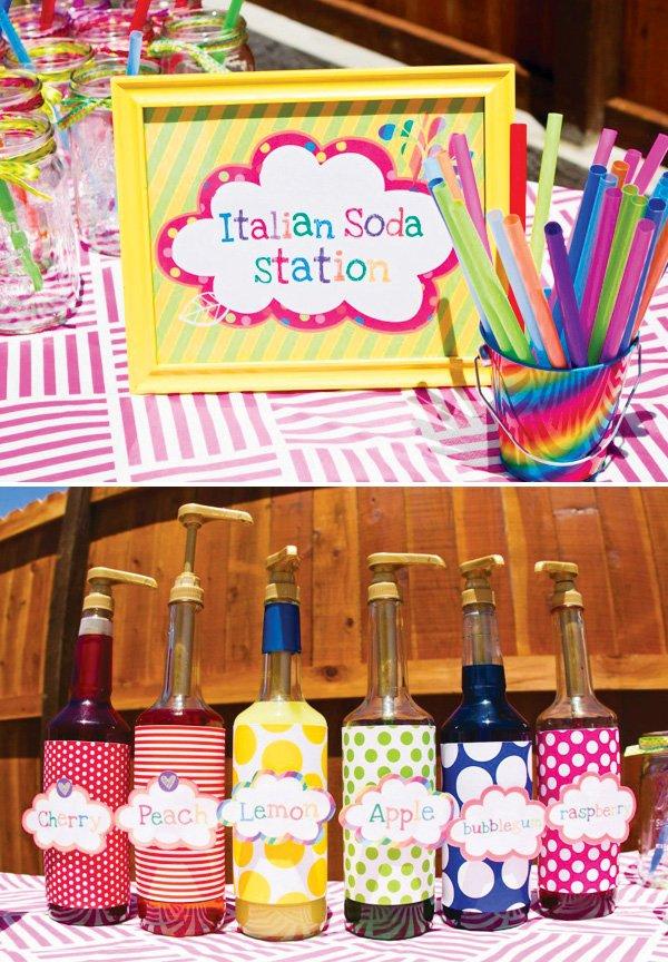 rainbow italian soda