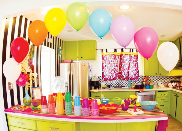 rainbow party kitchen