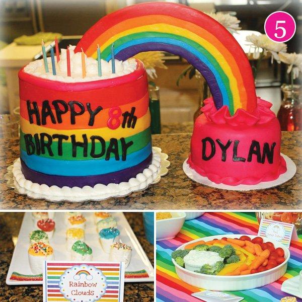 rainbow pool party ideas