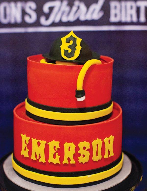 red fireman cake