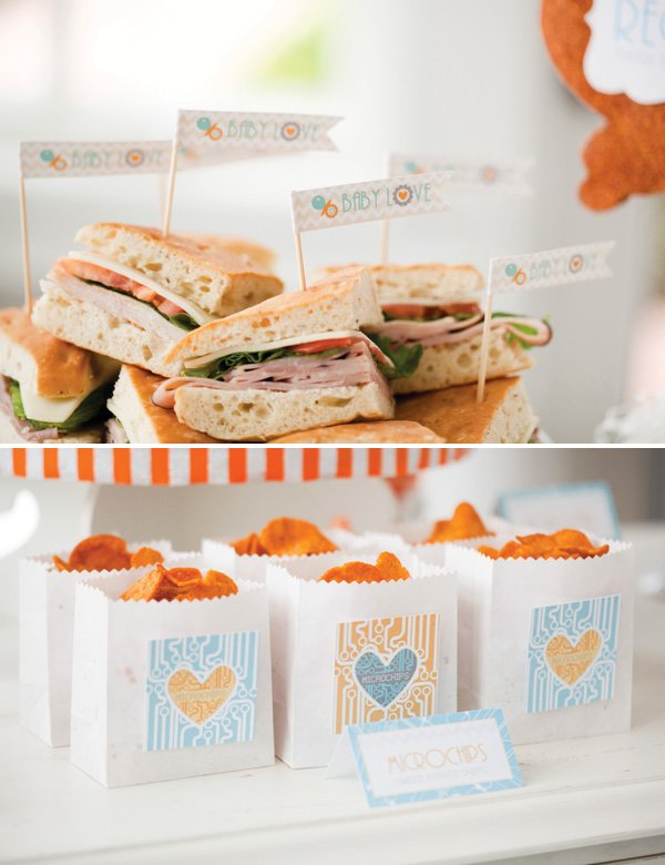 robot baby shower food ideas