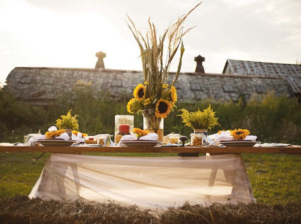 rustic farm tablescape