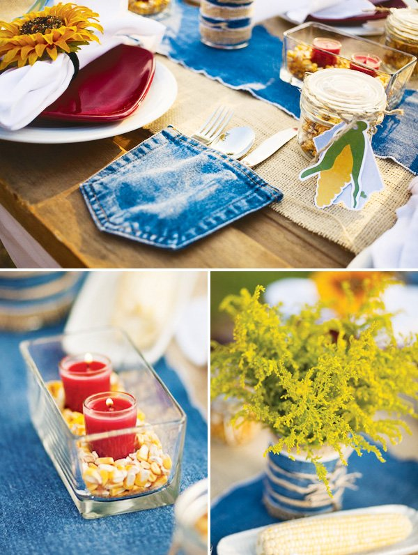 rustic country tablescape