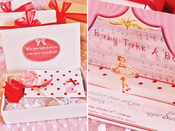 shirley temple party invitation