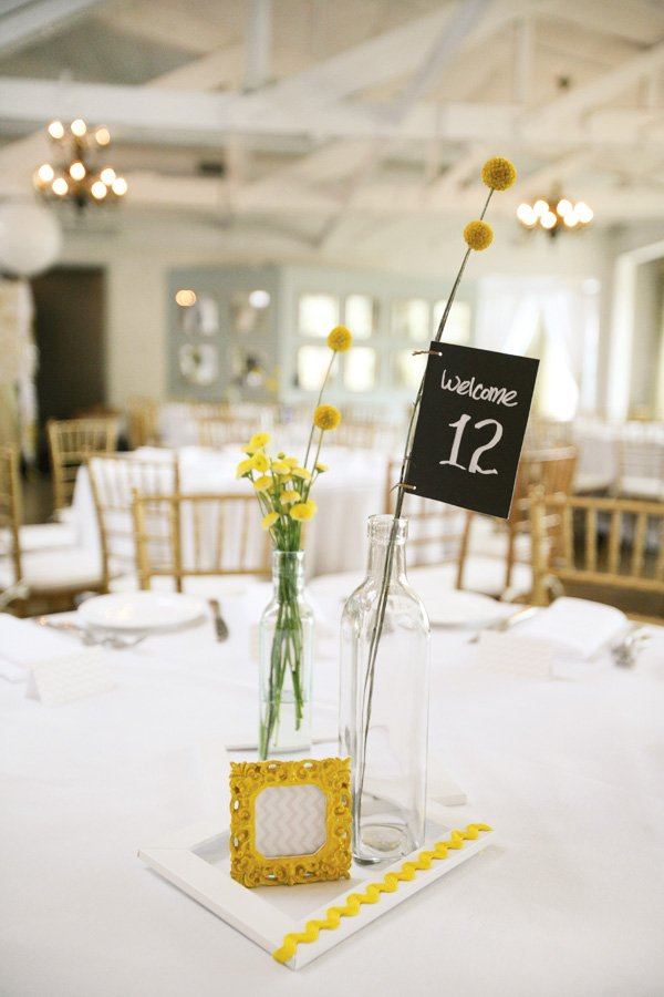 simple yellow centerpiece