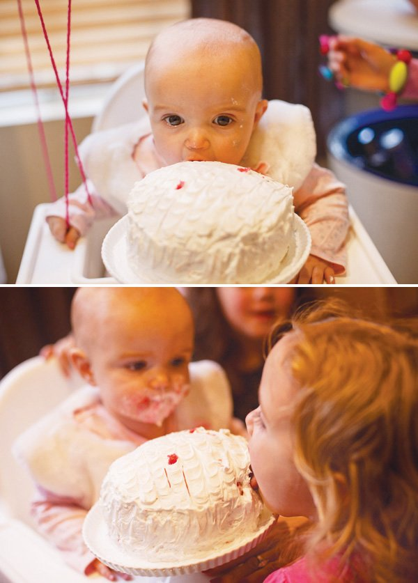 rylie and macy with the smash cake