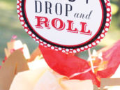 stop drop and roll party sign