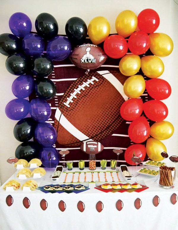 superbowl 2013 snack table