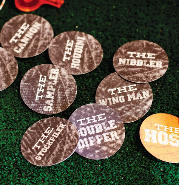 football party guest personality badges