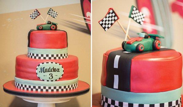 vintage car cake
