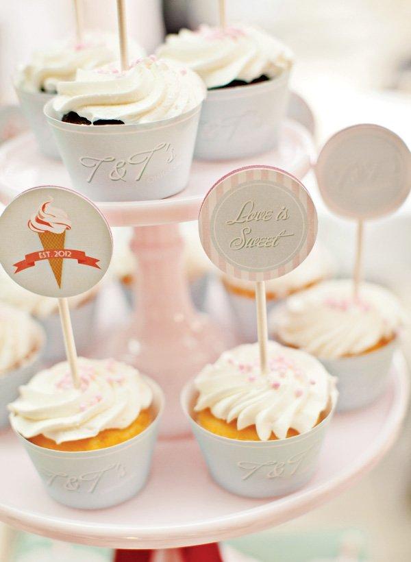 vintage ice cream parlor cupcakes