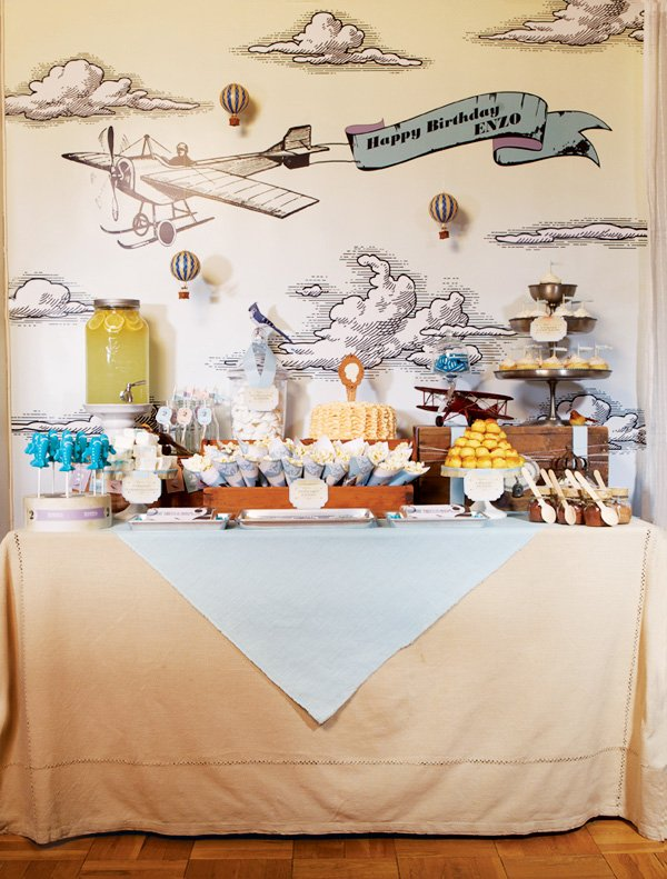vintage transportation dessert table