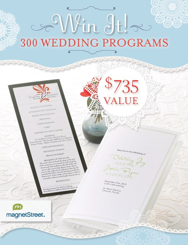 magnet street weddings program giveaway
