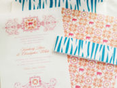 zebra invitation set