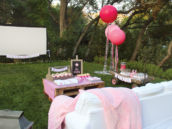 backyard birthday movie party