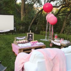 backyard birthday movie party