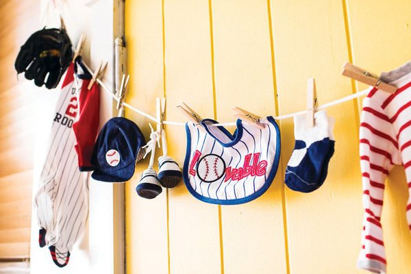 baby baseball uniform garland