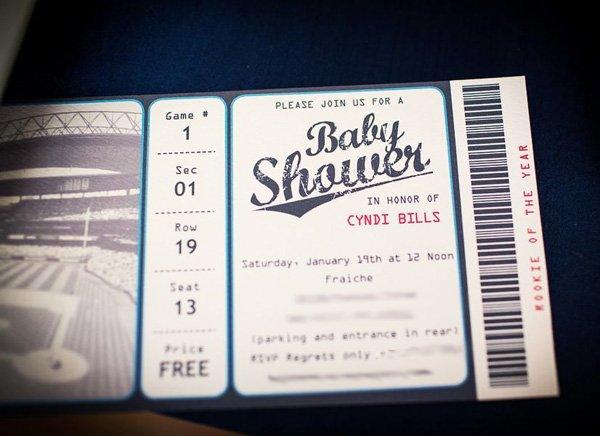 "baseball baby shower ""game ticket"" invitations"