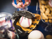 baseball mitt baby shower decorations