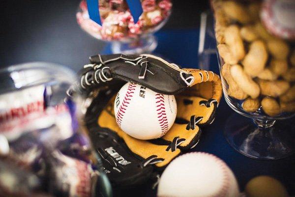 baseball mitt baby shower decorations