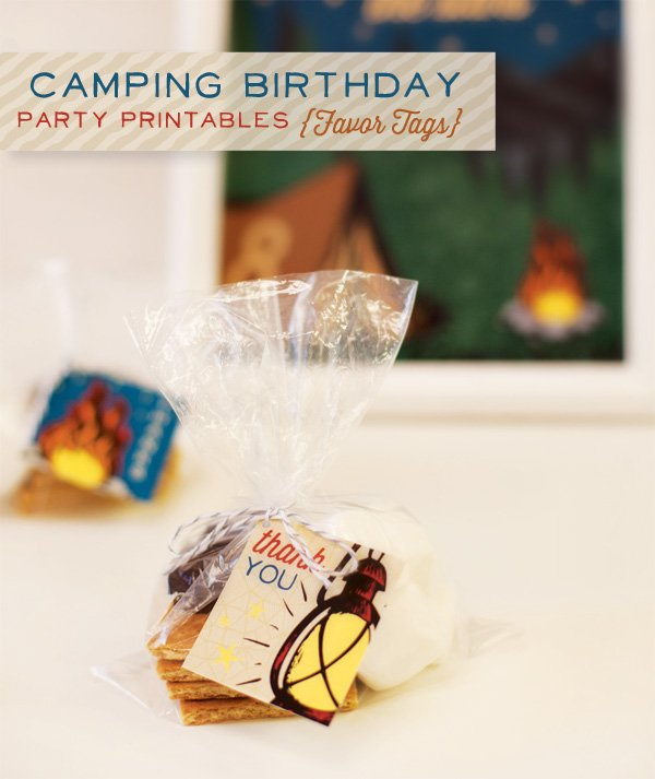 hwtm camping birthday party printables