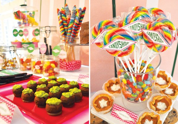 candy shop lollipops with a harry potter theme