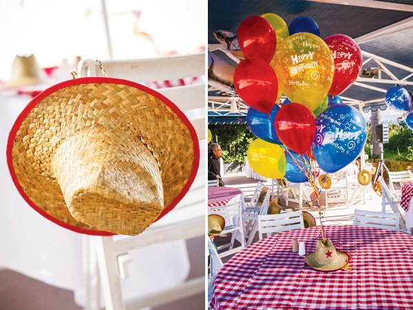cowboy hat centerpiece idea