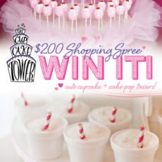 cupcake tower giveaway
