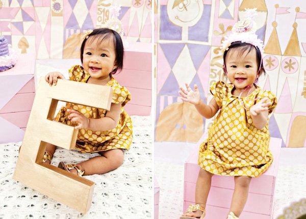 cute first birthday girl
