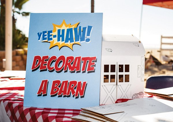 decorate a barn activity