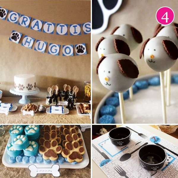 dog dessert table