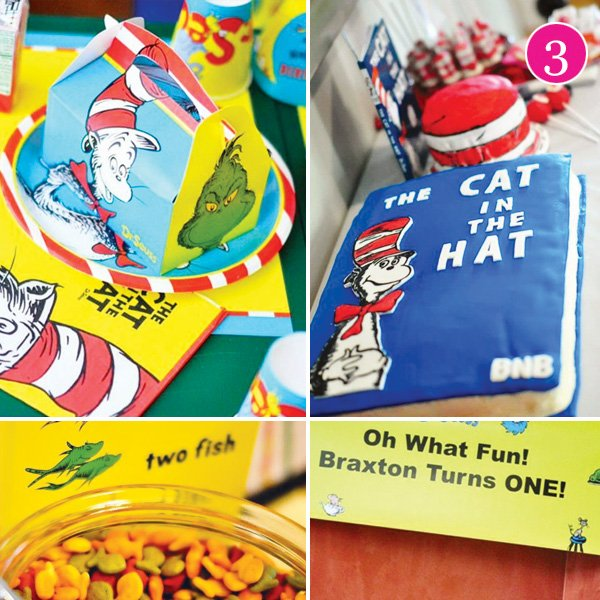 dr. seuss first birthday party